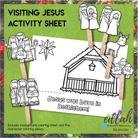 Visiting Jesus Popsicle Stick Activity Sheet