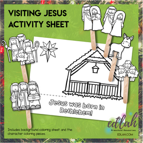 Visiting Jesus Popsicle Stick Activity Sheet