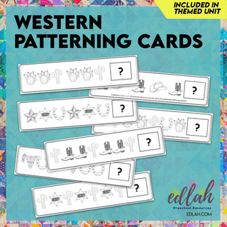 Western Patterning Cards - Black & White Version