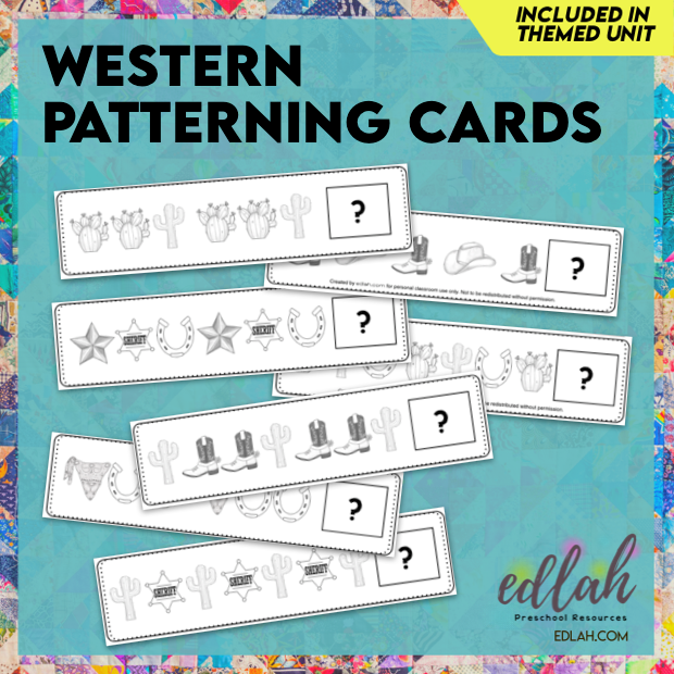 Western Patterning Cards - Black & White Version