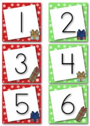 December Calendar Numbers (Christmas Presents)