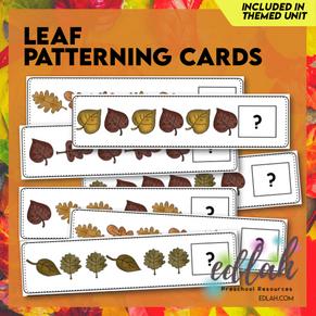 Leaf Patterning Cards - Full Color Version