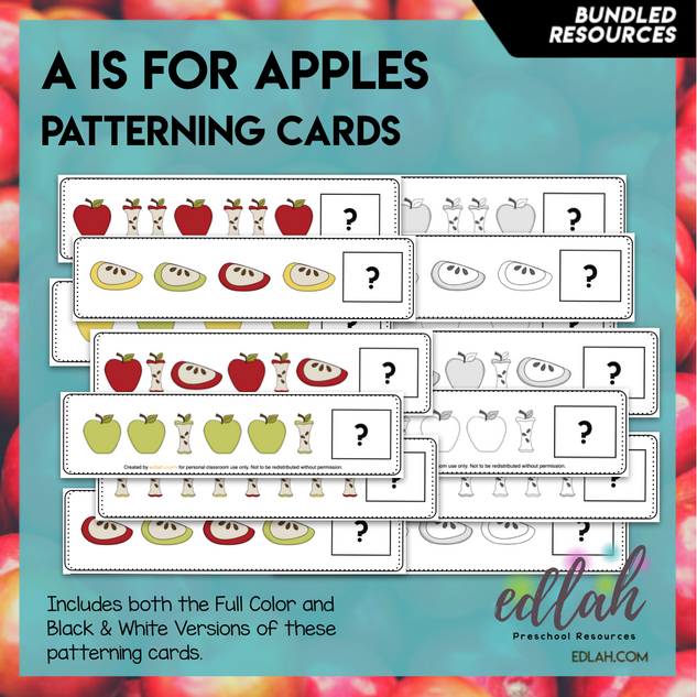 Apple Patterning Cards - BUNDLE
