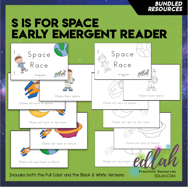 S is for Space Early Emergent Reader - BUNDLE