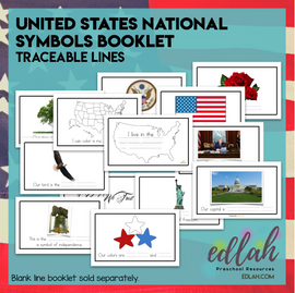 United States Symbols Booklet - Traceable Words