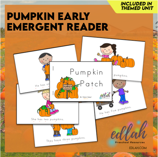 Pumpkin Early Emergent Reader - Full Color Version