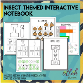 I is for Insects Themed Interactive Notebook
