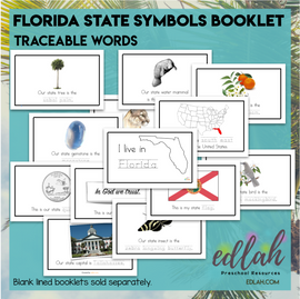 Florida State Symbols Booklet - Traceable Words