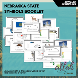 Nebraska State Symbol Booklet BUNDLE