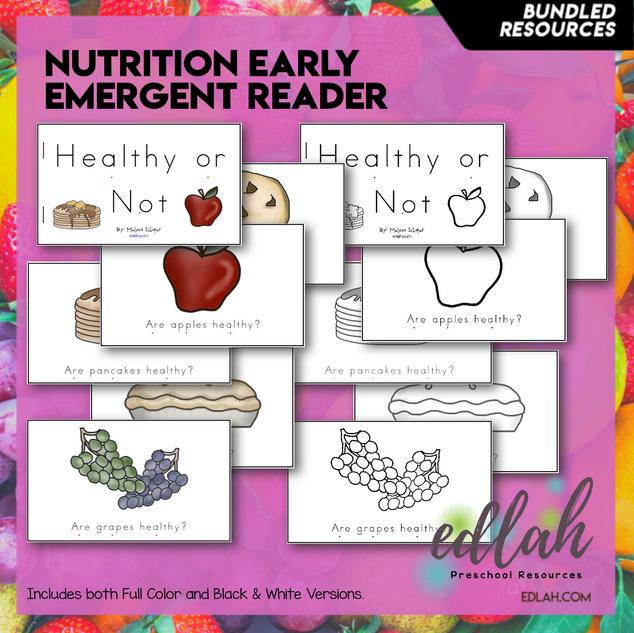 Nutrition/Food Early Emergent Reader - BUNDLE