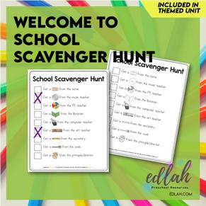Welcome to School Scavenger Hunt