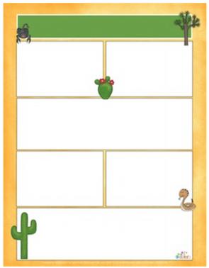 Desert Life Cactus Newsletter For Word_Generation 1