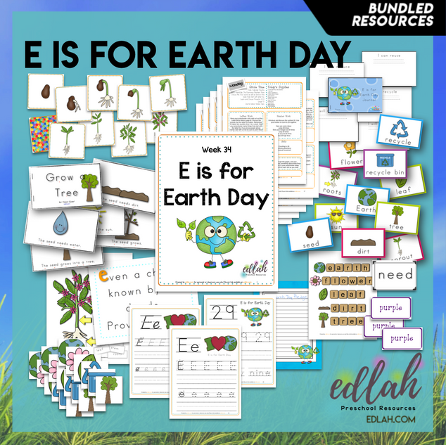E is for Earth Day Themed Unit-Preschool Lesson Plans