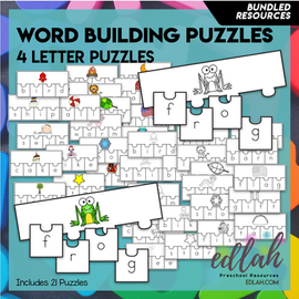 Word Building Puzzles: 4 Letter Words