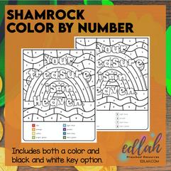 Shamrock Color By Number
