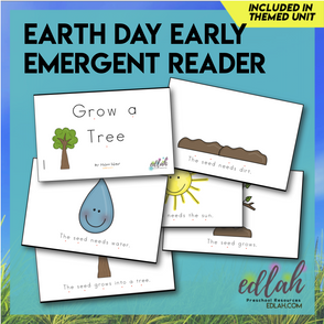 Earth Day Early Emergent Reader - Full Color Version