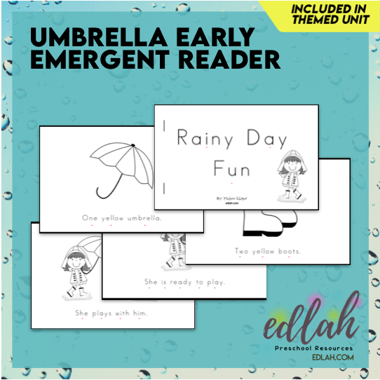 Weather Early Emergent Reader - Black & White Version