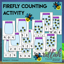 Firefly Clothes Pin Counting Activity - Numbers 0-10