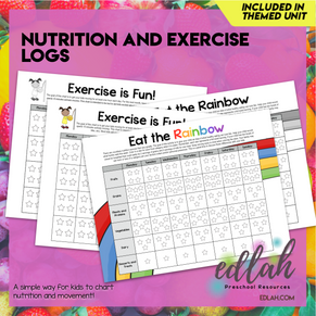 Nutrition/Food Logs (Food Log & Exercise Log) - Distance Learning