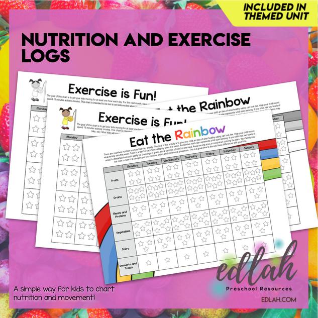 Nutrition/Food Logs (Food Log & Exercise Log) - Distance Learning