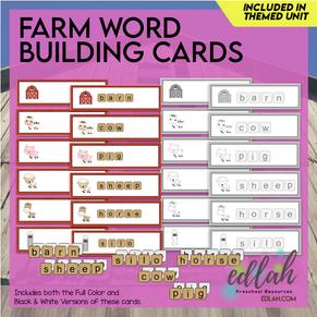 Farm Letter Tile Word Building