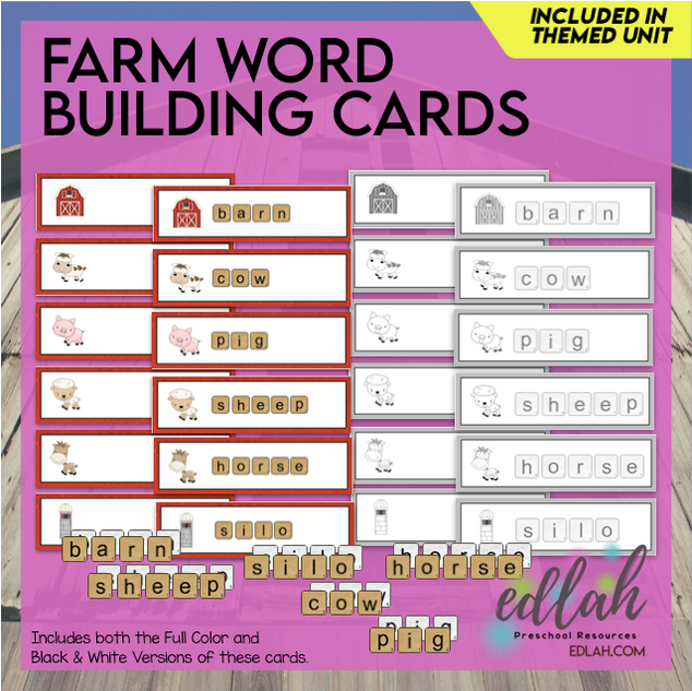 Farm Letter Tile Word Building