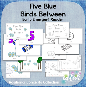 Five Blue Birds Early Emergent Reader (Beside) - BUNDLE