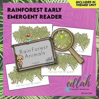 Rainforest Early Emergent Reader - Full Color Version