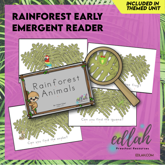 Rainforest Early Emergent Reader - Full Color Version
