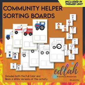 Community Helper Sorting Boards - Distance Learning