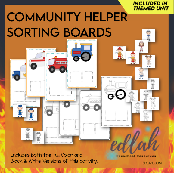 Community Helper Sorting Boards - Distance Learning