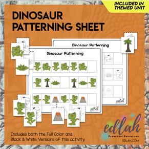 Dinosaur Patterning Sheet