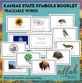 Kansas State Symbols Booklet - Traceable Words