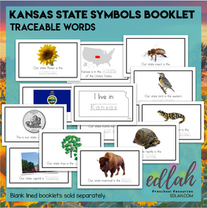 Kansas State Symbols Booklet - Traceable Words