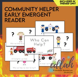 Community Helper Early Emergent Reader - Full Color Version