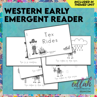 Western Early Emergent Reader - Black & White Version