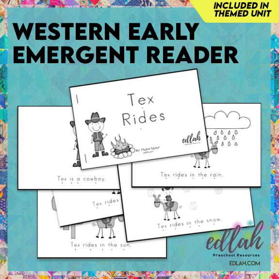 Western Early Emergent Reader - Black & White Version