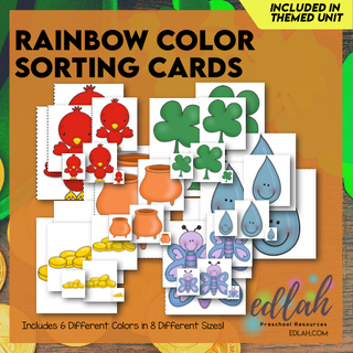 Rainbow Color Sorting Cards - Full Color
