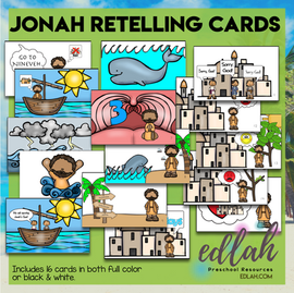 Jonah and the Big Fish Story Retelling Cards