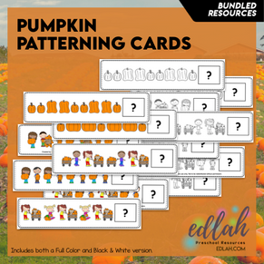 Pumpkin Patterning Cards - BUNDLED