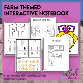 F is for Farm Themed Interactive Notebook
