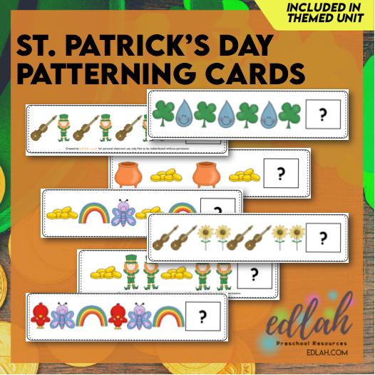 St. Patrick's Day Patterning Cards Set - Full Color Version
