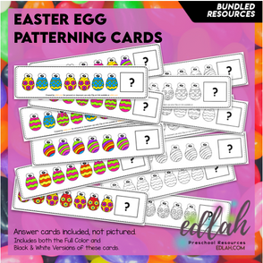 Easter Egg Patterning Cards - BUNDLE