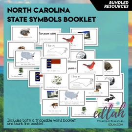 North Carolina State Symbols Booklet BUNDLE