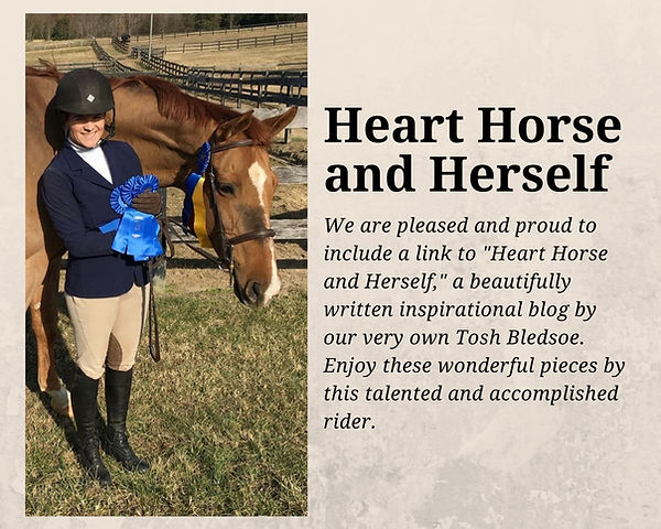 Heart Horse and Herself Tosh Bledsoe
