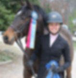 Whitestone Farm Horse and Rider with Ribons