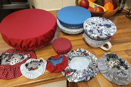 Cotton Bowl Covers circle - Breathable - Washable - Reusable - Eco - 4 sizes
