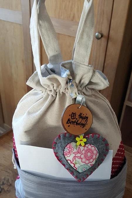 Gift bag fabric reusable