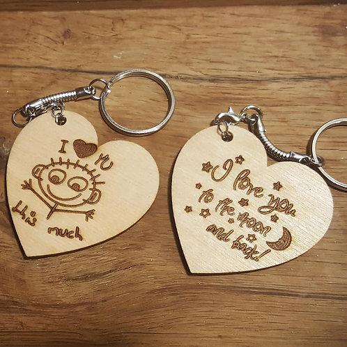 Key ring 5cm heart