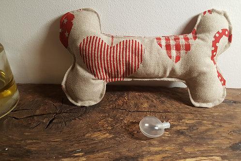 Dog bone toy with squeak